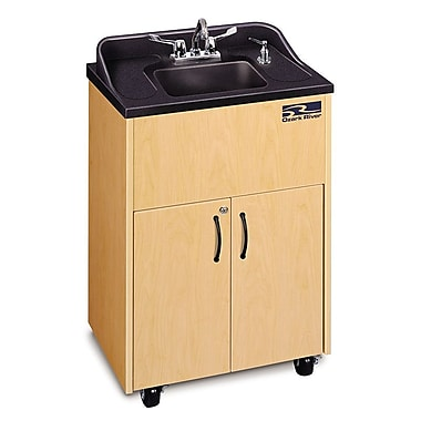 Ozark River Portable Sinks Premier Series 26'' x 18'' Single Hand-Wash Sink; Maple