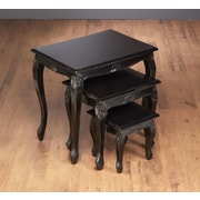 AA Importing Lyda 3 Piece Nesting Table; Black