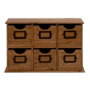 ABCHomeCollection 6 Drawer Vintage Minature File Cabinet