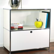 System4 Credenza and Filing Cube w/ Soft-Close Drawer; White
