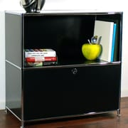 System4 Credenza and Filing Cube w/ Soft-Close Drawer; Black