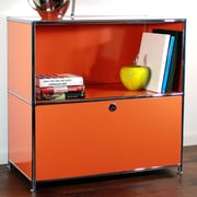 System4 Credenza and Filing Cube w/ Soft-Close Drawer; Pure Orange