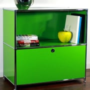 System4 Credenza and Filing Cube w/ Soft-Close Drawer; Yellow Green