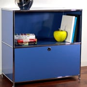 System4 Credenza and Filing Cube w/ Soft-Close Drawer; Brilliant Blue