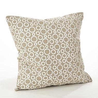 Saro Leah Circle Embroidered Cotton Throw Pillow