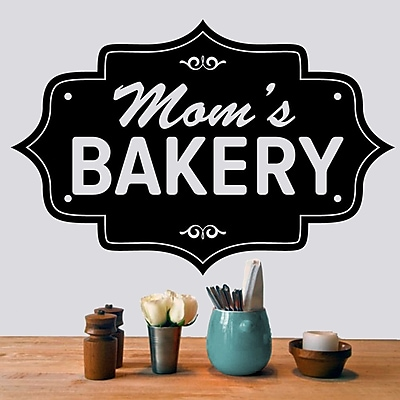 SweetumsWallDecals Mom's Bakery Wall Decal; Black