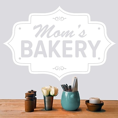 SweetumsWallDecals Mom's Bakery Wall Decal; White