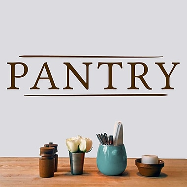 SweetumsWallDecals Pantry Wall Decal; Brown