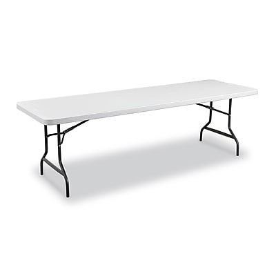"Staples Folding Table, 96""L x 29""W, Granite (79133)"