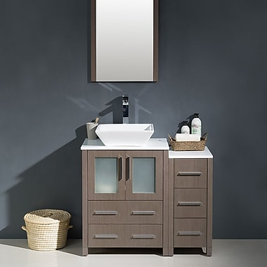 Fresca Torino 36'' Single Modern Bathroom Vanity Set w/ Mirror