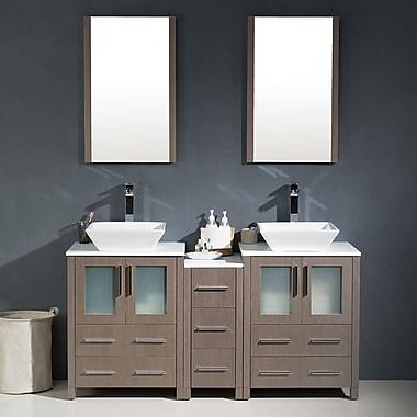 Fresca Torino 60'' Double Modern Bathroom Vanity Set w/ Mirror