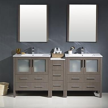 Fresca Torino 72'' Double Modern Bathroom Vanity Set w/ Mirror