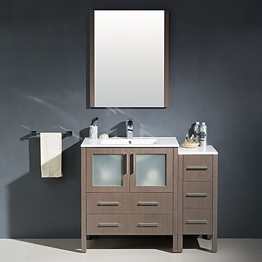 Fresca Torino 42'' Single Modern Bathroom Vanity Set w/ Mirror