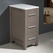 Fresca Torino 12'' W x 28.13'' H Cabinet; Gray Oak