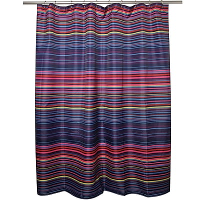 Famous Home Fashions Happy Stripe Shower Curtain