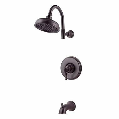 Pfister Ashfield Single Handle Tub and Shower Trim; Tuscan Bronze