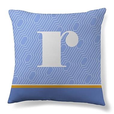 Gillham Studios Initial Geometric Throw Pillow; R