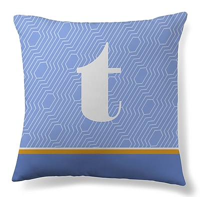 Gillham Studios Initial Geometric Throw Pillow; T