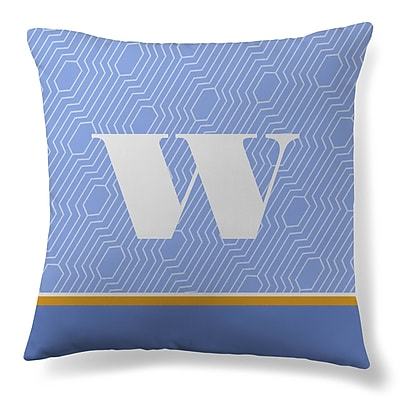 Gillham Studios Initial Geometric Throw Pillow; W