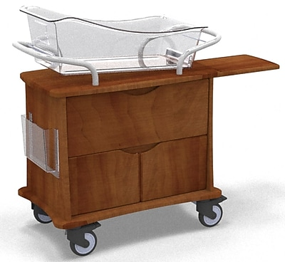 MedViron Hospital Maternity Bassinet, 1-Drawer & 2-Doors, with Chartholder & Chartboard, Summer Flame (M31-0011-K212)