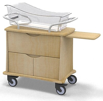 MedViron Hospital Maternity Bassinet, 1-Drawer & 2-Doors, with Chartboard, Fusion Maple (M31-0010-K050)