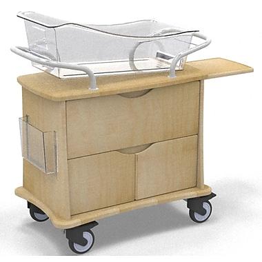 MedViron Hospital Maternity Bassinet, 1-Drawer & 2-Doors, with Chartholder & Chartboard, Fusion Maple (M31-0011-K050)