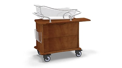MedViron Hospital Maternity Bassinet, 1-Drawer, with Chartholder & Chartboard, Summer Flame (M11-0011-K212)