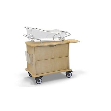 MedViron Hospital Maternity Bassinet, 1-Drawer, with Chartholder & Chartboard, Fusion Maple (M11-0011-K050)