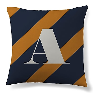 Gillham Studios Initial Stripe Throw Pillow; A