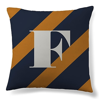 Gillham Studios Initial Stripe Throw Pillow; F