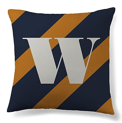 Gillham Studios Initial Stripe Throw Pillow; W