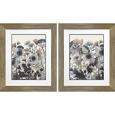 Star Creations Twilight Blossoms I & II by Grace Popp 2 Piece Framed Painting Print Set