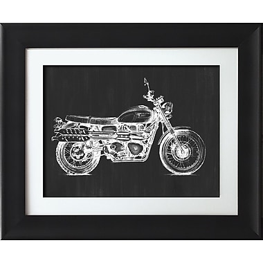 Star Creations Motorcycle Graphic II by Megan Meagher Framed Painting Print