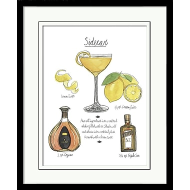 Star Creations Classic Cocktail - Side Car by Naomi Mccavitt Framed Painting Print