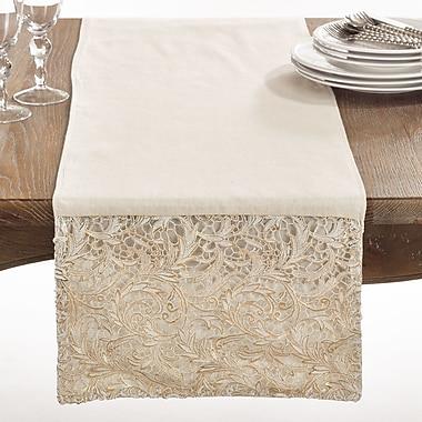Saro La Rochelle Cotton Lace Table Runner