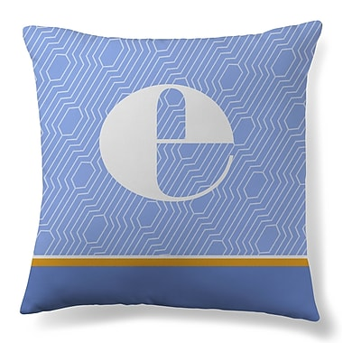 Gillham Studios Initial Geometric Throw Pillow; E