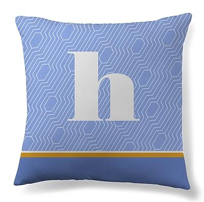 Gillham Studios Initial Geometric Throw Pillow; H
