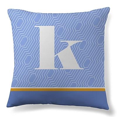 Gillham Studios Initial Geometric Throw Pillow; K