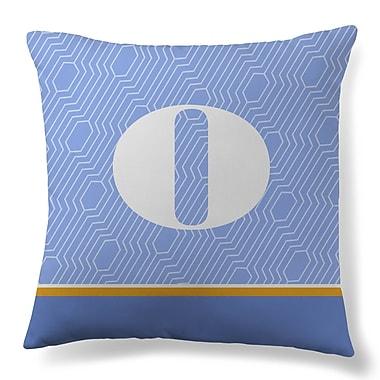 Gillham Studios Initial Geometric Throw Pillow; O