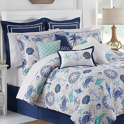 Royal Heritage Home Williamsburg Cotton 4 Piece Reversible Comforter Set; King
