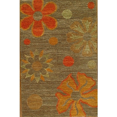 Pasargad NY Hand-Tufted Brown/Red Area Rug