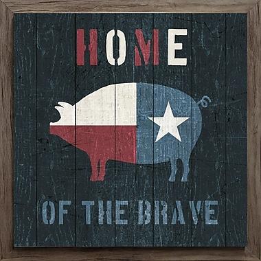 Star Creations American Farm Texas Pig by Michael Mullen Framed Graphic Art