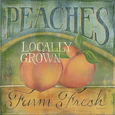 Star Creations Peaches Natural Burlap Box by Kim Lewis Painting Print