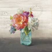 Star Creations French Cottage Bouquet I Nautral Burlap Box by Danhui Nai Painting Print