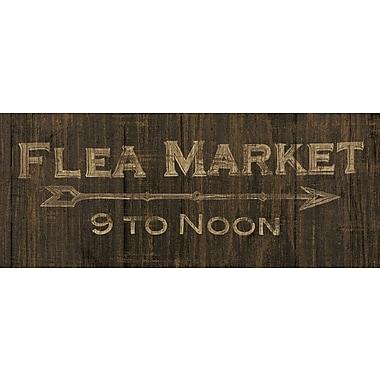 Star Creations Flea Market Sign Dark by Wild Apple Portfolio Textual Art on Canvas