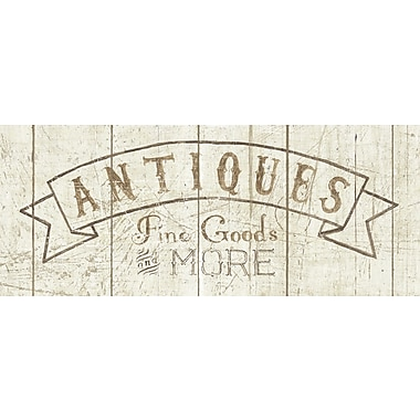 Star Creations Antiques Sign by Wild Apple Portfolio Textual Art on Canvas
