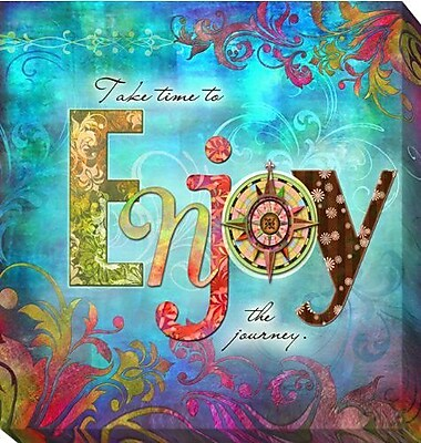 Artistic Home Gallery 'Enjoy' by Connie Haley Graphic Art on Wrapped Canvas