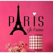 Davis Vinyl Designs Paris Je T'Aime Wall Decal