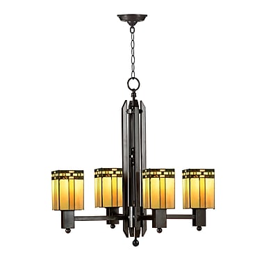 Dale Tiffany Biscayne Mission 4-Light Shaded Chandelier