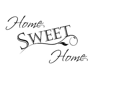 DecaltheWalls Home Sweet Home Wall Decal